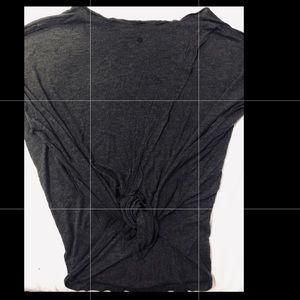 Lululemon Short Sleeve Tie Back Tee Dark Gray 8